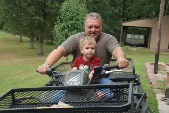 Jack and Grandpa on Four Wheeler